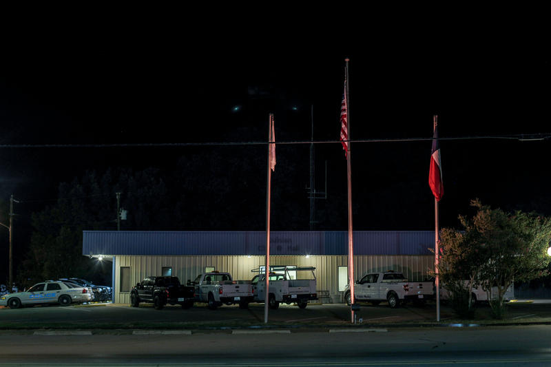A view of the Quinlan Police Dept. building on Main Street.