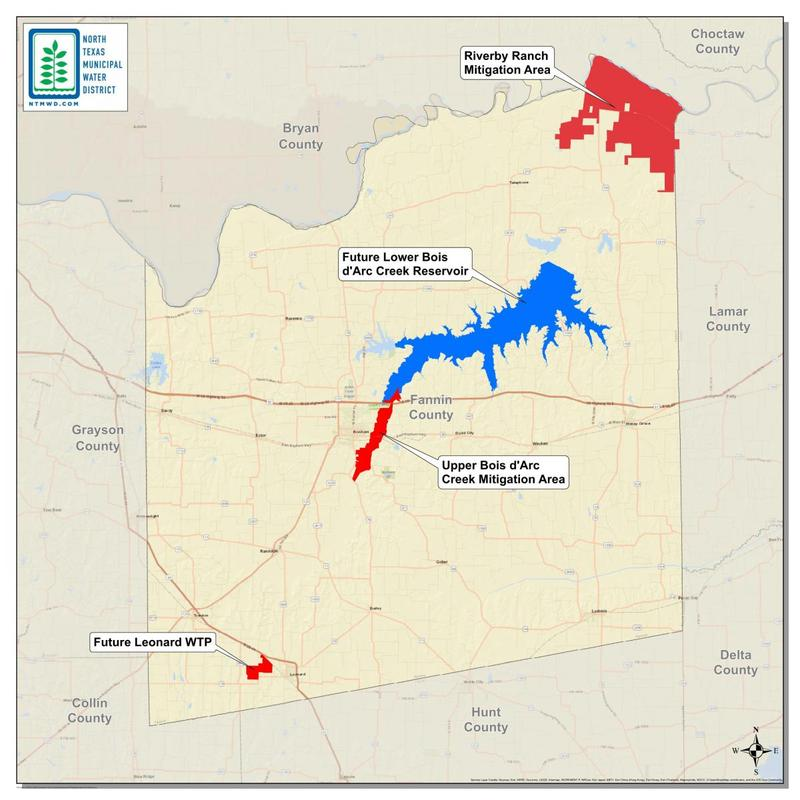 It's all over but the building: The federal government has approved the proposed Lower Bois d'Arc Creek Reservoir.