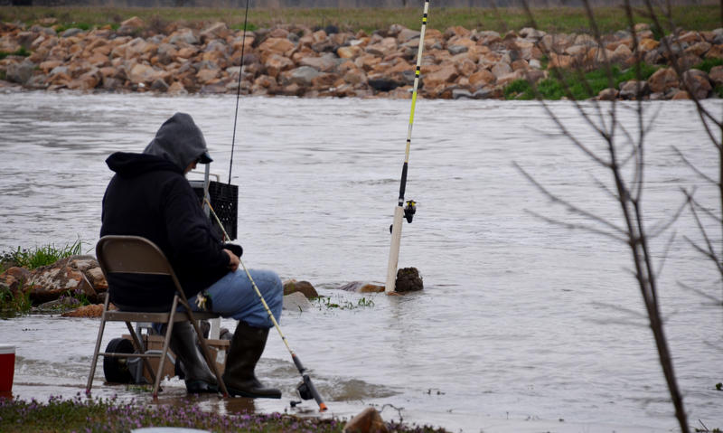 Thursday morning fishing soon came to a close as more flooding prevents travel to spillway.