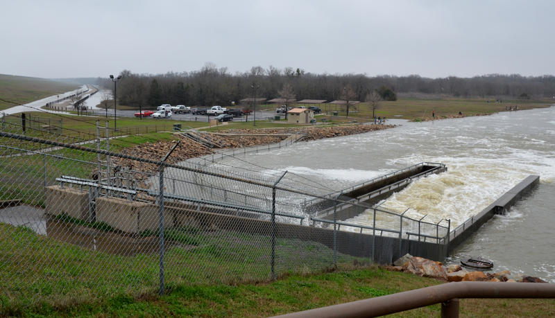 Gates were closed to roads leading to the fishing areas due to flooding on Thursday afternoon, March 1.