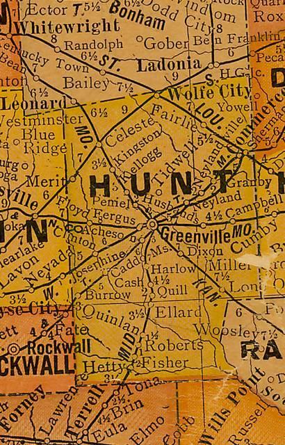 Celeste Texas Map on
