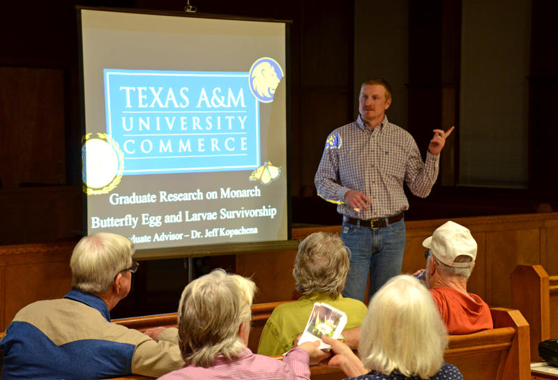 Cooper Wildlife Management Area Biologist Howard Crenshaw introduced the Texas A&M University in Commerce graduate students.