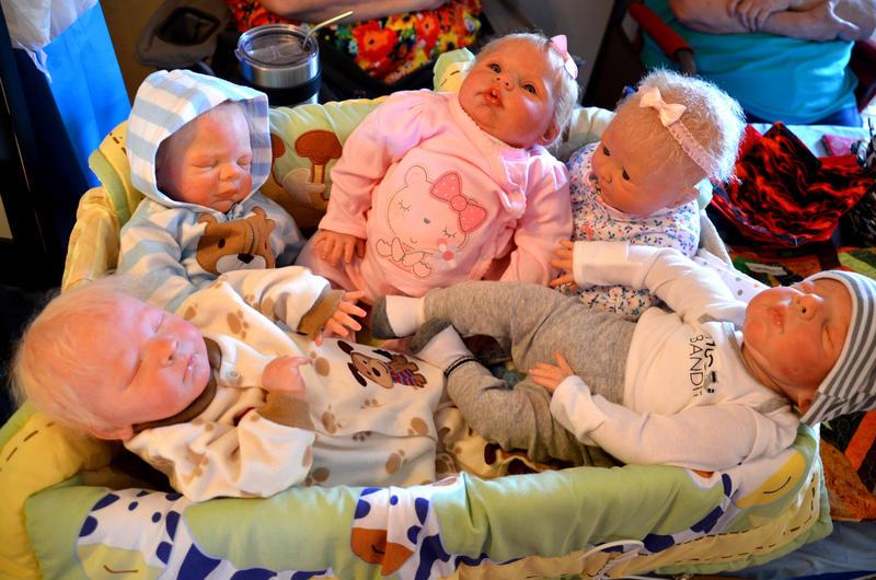 Life-like baby dolls impressed many shoppers.
