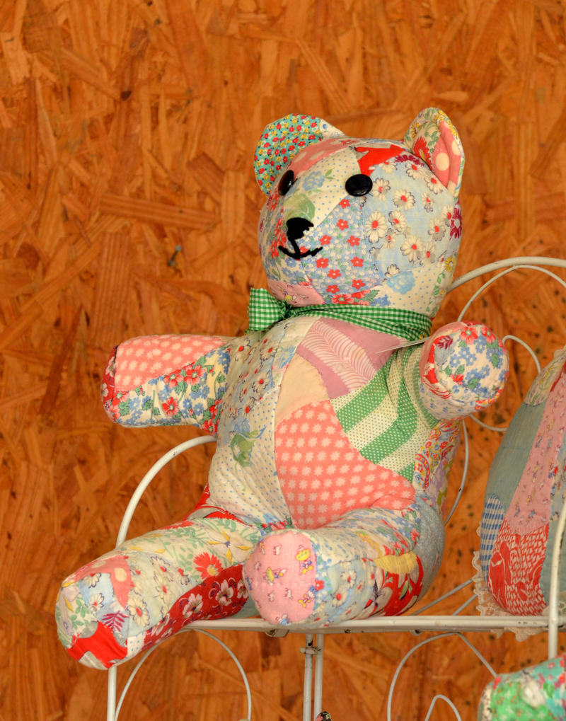 Quilted bears and more were just some of the wares for sale in Pecan Gap.