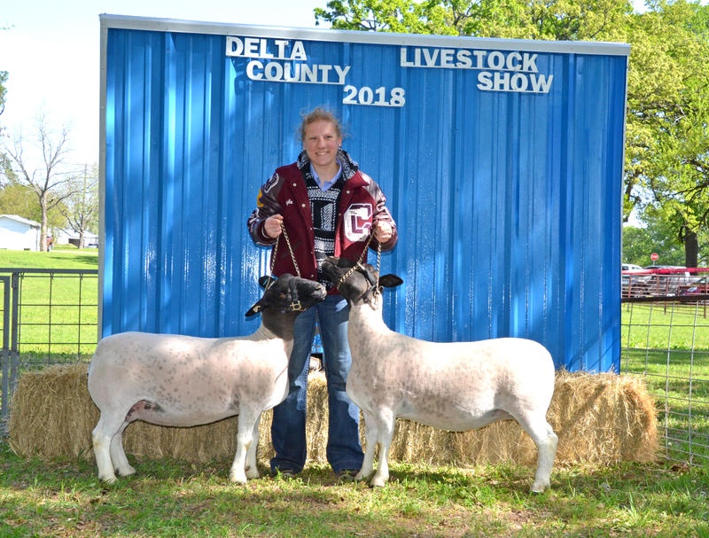 Jayla Lair was one of the many winners at the Bobby Wigley Memorial Jr Livestock Show at the Fair.