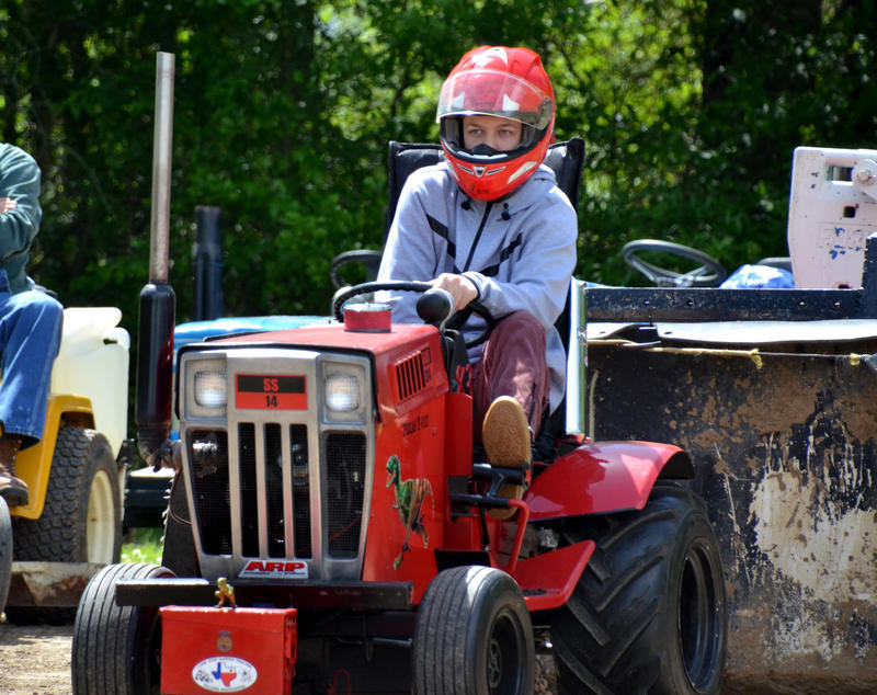 Lane Duncan fired up his T-Rex tractor in the annual Lone Star Garden Tractor Pullers contest at the Fair.