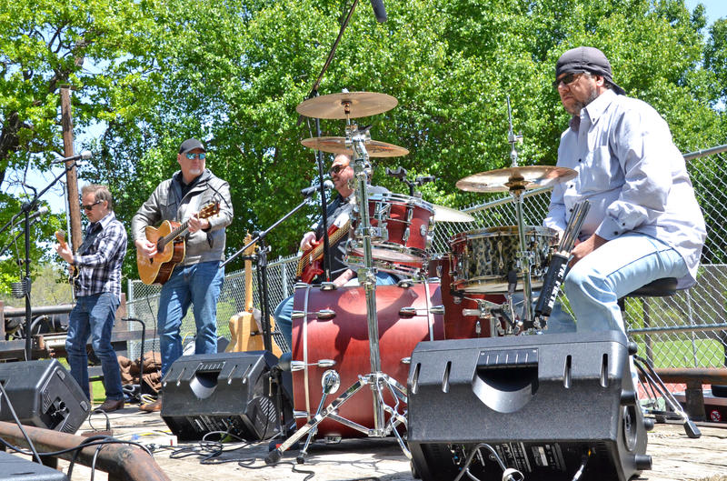 Despite the unseasonably cool April Saturday, the Monty Tipps Band returned by popular demand to the Delta County Fair.