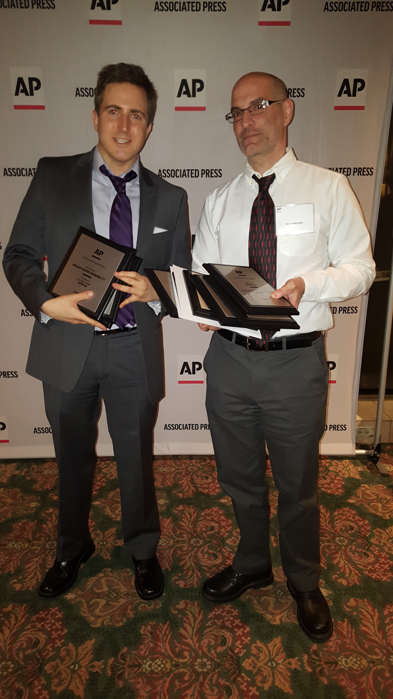 88.9 KETR's George Hale and Scott Morgan attended the Texas AP Broadcasters Banquet in Austin on April 21, 2018.