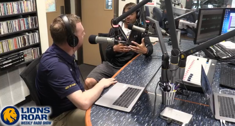 Josh Manck talks with head track and field coach George Pincock about hosting the East Texas Invitational.