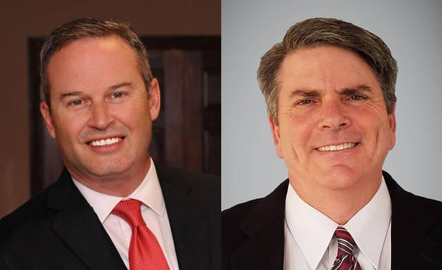 Either Reggie Smith, left, or Brent Lawson will with the Republican nomination for Texas House District 62, which includes Delta, Fannin and Grayson counties.