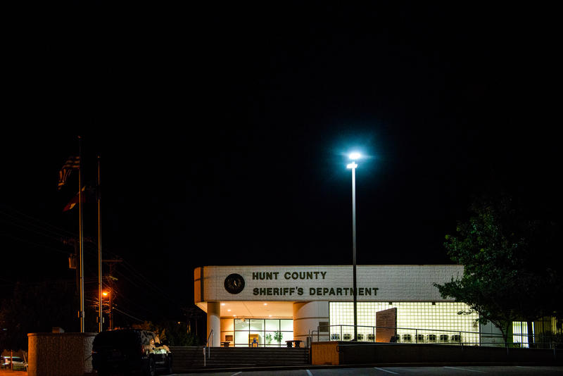 A view of the Hunt Co. Sheriff's Office in Greenville, TX.