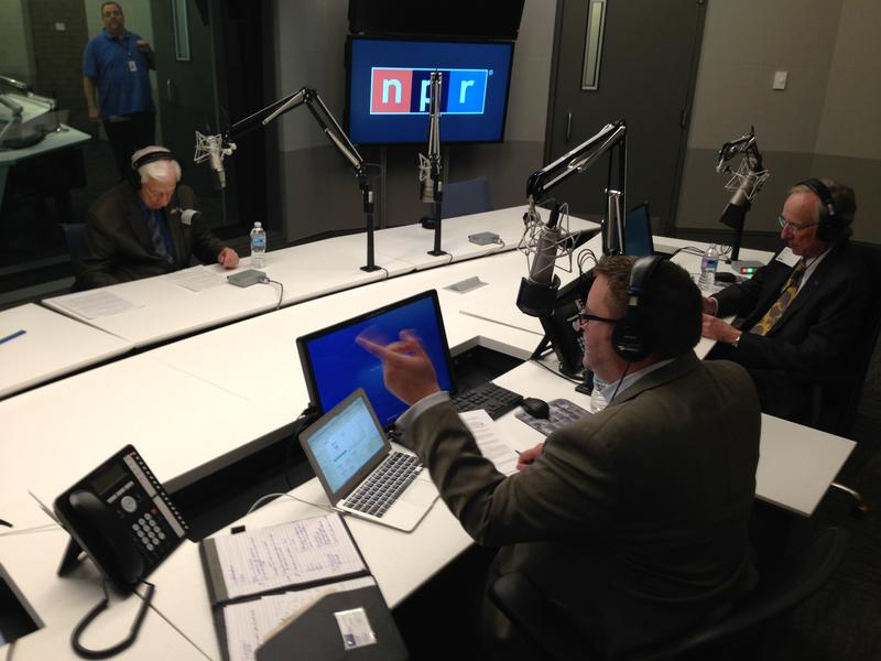 Jerrod Knight serves as co-host for The President's Perspective with the late Dr. Dan Jones of Texas A&M University-Commerce and former congressman Ralph Hall of Texas' 4th Congressional District; live broadcast from NPR headquarters in Wasthington, D.C.