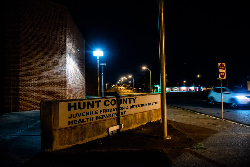 A view of the Hunt Co. juvenile detention center in Greenville, TX.