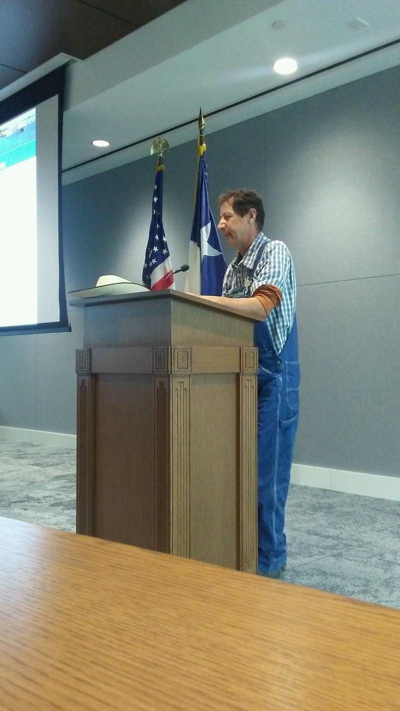 Albert Pardo and other Fannin County residents addressed the board of the North Texas Municipal Water District.