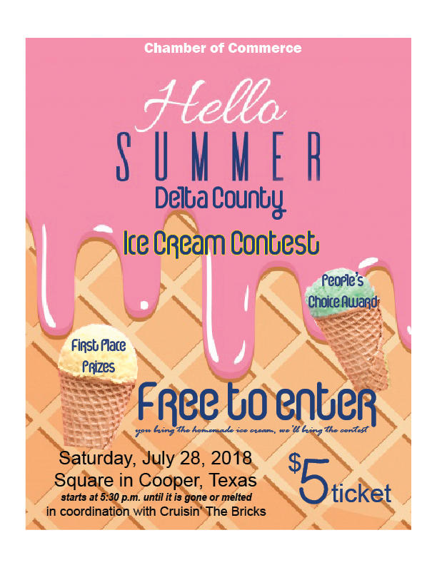 The Delta County Chamber of Commerce will be hosting their first Hello Summer Ice Cream Contest in July.
