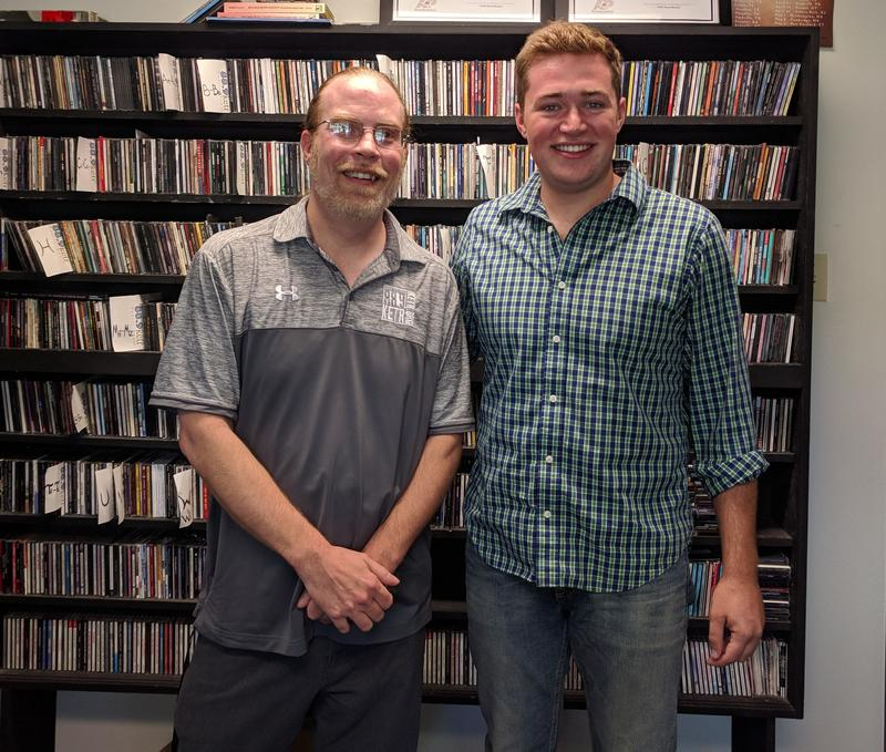 Josh Giles (right) and Matt Meinke at Notably Texan headquarters.
