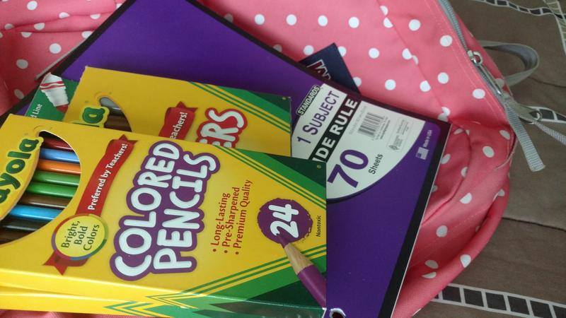 School supplies are on the tax-free weekend list.