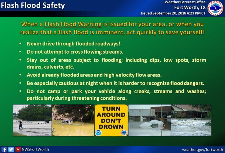 High waters create dangerous conditions for drivers, particularly after dark.