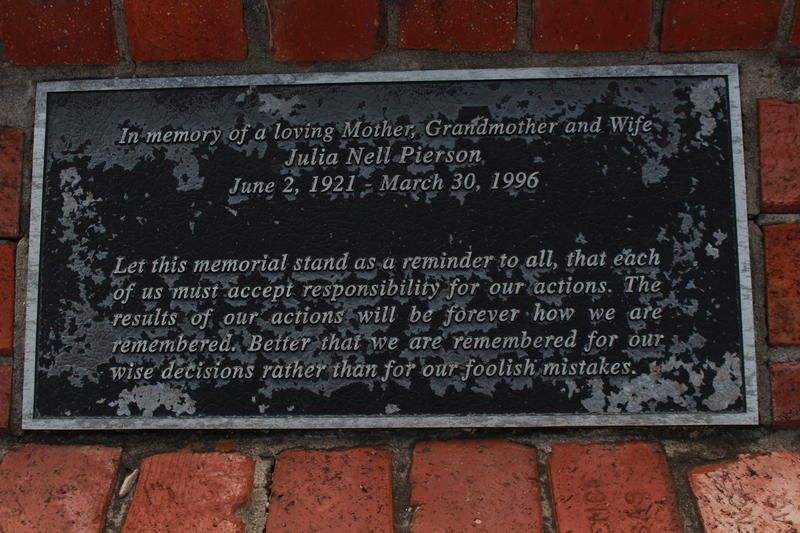 This plaque sits near where Charles Moore died. It's presscient words are not without nuance for the story of his death.