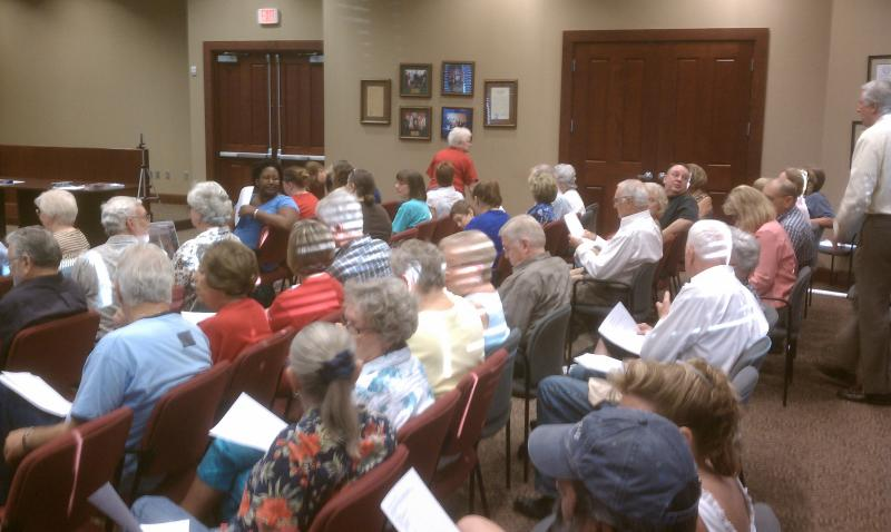 Dozens attend Thursday's meeting concerning the Commerce Public Library