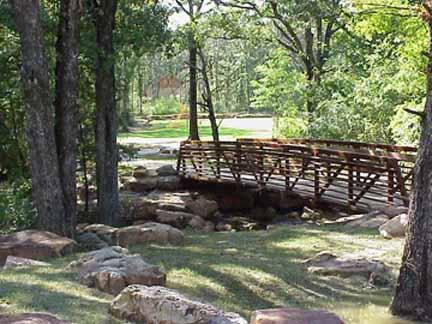 Bridge at Coleman Park in Sulphur Springs