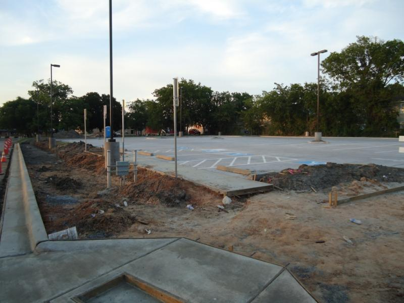 New parking lot north of Field House