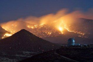 Commerce Firefighters dispatched to the Fort Davis wildfire captured this image in April 2011