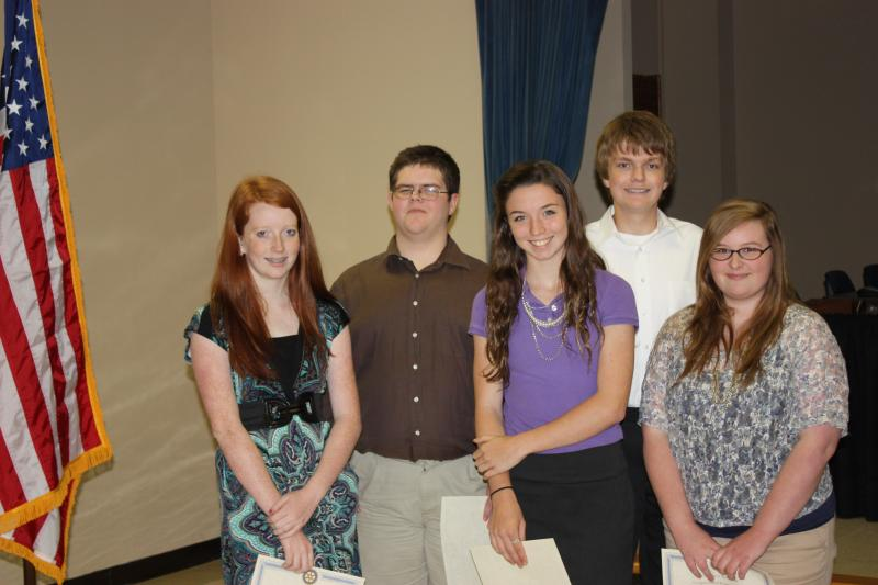 Rotary Scholar Freshman Group Picture, May 9, 2012