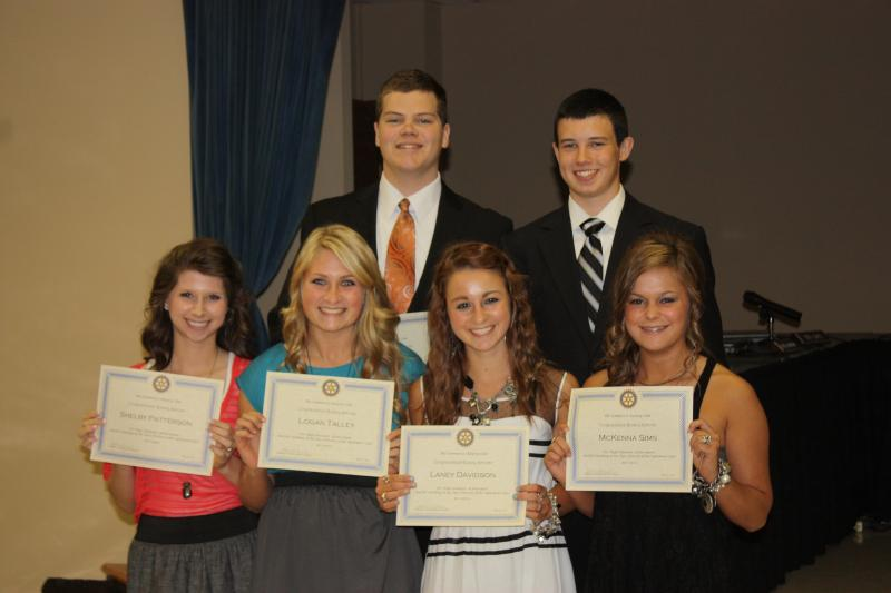 Rotary Scholar Sophomore Group Picture, May 9, 2012