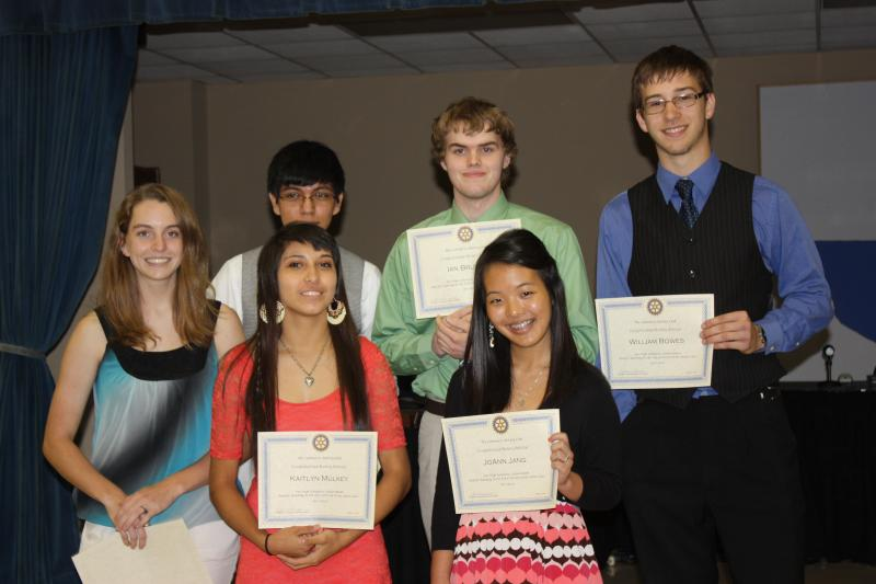 Rotary Scholar Junior Group Picture, May 9, 2012