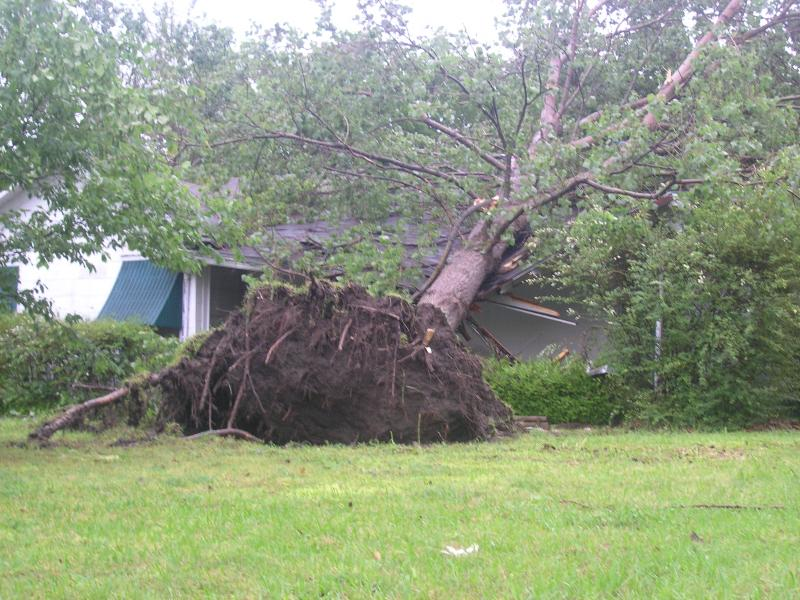 Storm Damage in Hunt County in 2009