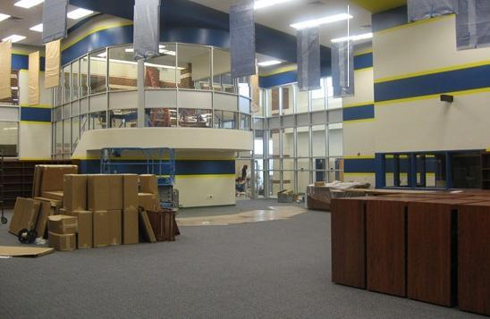 The new Sulphur Springs Library in April 2012