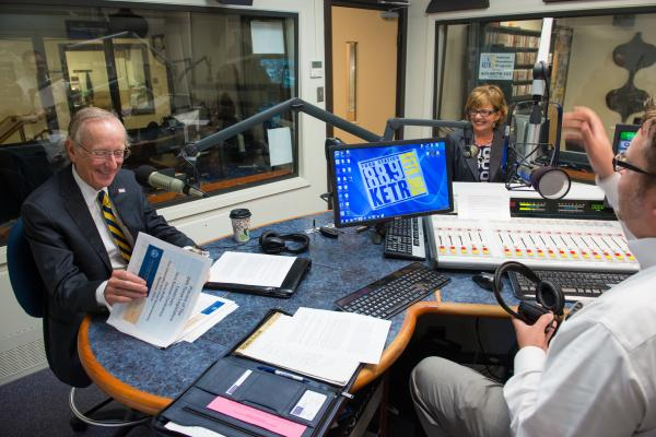 Dr. Dan Jones and Dr. Mary Hendrix meet with host Jerrod Knight ahead of recording the August 2014 edition of The President's Perspective