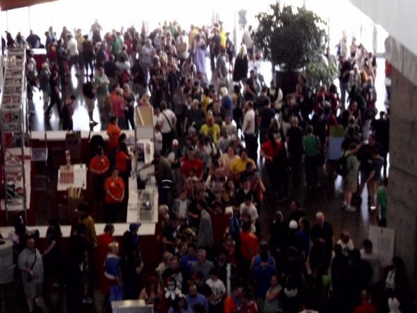 A small part of the crowd on Saturday of the 2013 Dallas Comic-Con.