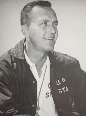 Former University of Oklahoma head football coach Chuck Fairbanks