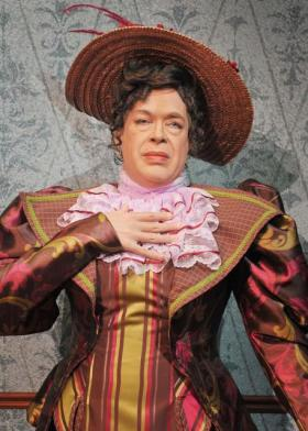"""Emmy award winner Michael Jones as Lady Bracknell in """"The Importance of Being Earnest."""" The show, a co-production of CITY REP, OCU's school of Theatre and Oklahoma Shakespeare in the Park, runs April 5–14 in the Burg theater of the OCU Fine Arts building."""