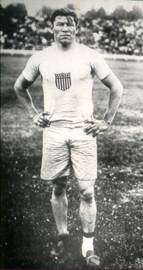 Jim Thorpe at the 1912 Olympics in Stockholm, Sweden