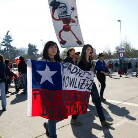 Protesters gather in Santiago, Chile - August 21, 2011