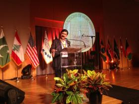 Ziauddin Yousafzai accepts the 2013 Reflections of Hope Award on Monday, and speaks about the honor he and his daughter Malala feel for receiving it.