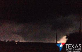 University of Oklahoma meteorology student Paige Burress captured this image of a wedge tornado north of Rio Vista, TX - May 15, 2013