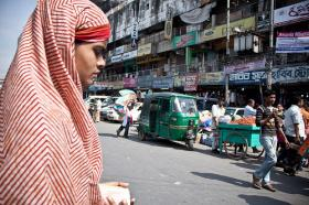 A woman in Dhaka, Bangladesh