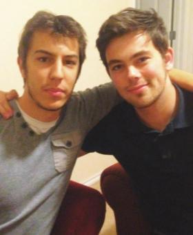 Adrian Guarrera (French) and Rich Dawson (British) visiting the University of Oklahoma.