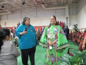 Kansas State Rep. Ponka-we Victors at Riverside Indian School graduation.