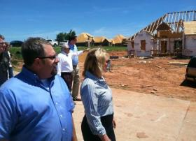 Governor Mary Fallin tours tornado-damaged areas in Newcastle - June 28, 2013