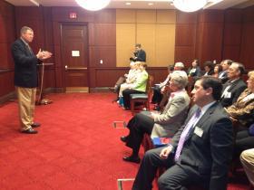 House Agriculture Committee Chairman Frank Lucas (R-OK3) speaks to the Oklahoma Farm Bureau in 2013.