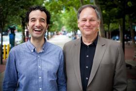 """Radiolab"" hosts Jad Abumrad and Robert Krulwich."
