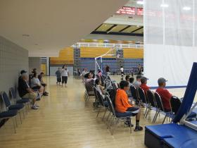 Basketball in the Abe Lemmons Arena on the OCU campus