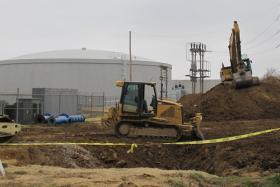 Construction underway on Broken Arrow's new water treatment plant in December 2012.