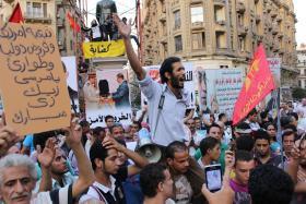 Anti-Morsi protest in downtown Cairo - August 31, 2012