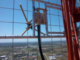 The view from 640 feet in the air at the KROU-FM transmitter in Oklahoma City.